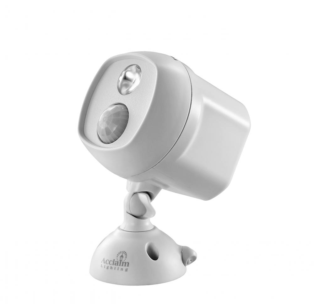 Battery Operated Dove Gray Led Single Head Spotlight With Clamp B222gr Lighting Solutions Design Gallery Llc